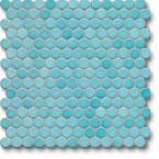 Jasba Loop mozaika okrągła śr.2cm aquablau glanzend