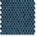Jasba Loop mozaika okrągła śr.2cm stahlblau glanzend