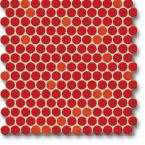 Jasba Loop mozaika okrągła śr.2cm korallenrot glanzend