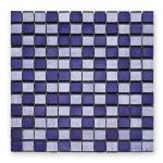 BARWOLF Mozaika szklana 2,3x2,3cm fineline purple