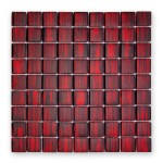 BARWOLF Mozaika szklana 3x3cm ruby red
