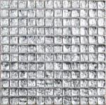 BARWOLF Mozaika szklana 2,5x2,5cm silver