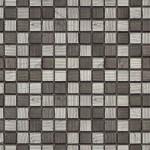 BARWOLF Mozaika szklana 2,3x2,3cm fineline silverblack