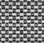 BARWOLF Mozaika szklana 2,5x2,5cm silver mix