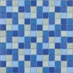BARWOLF Mozaika szklana 2,3x2,3cm water blue mix