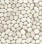 BARWOLF Mozaika kamienna biała otoczaki 30x30cm