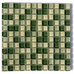 BARWOLF Mozaika szklana 2,3x2,3cm fresh green mix