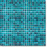 JASBA Atelier mozaika 1x1cm 8603H turquoise mix