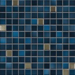 Jasba Fresh mozaika 2 x 2 cm 41509 midnight blue-mix metallic glänzend