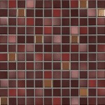 Jasba Fresh mozaika 2 x 2 cm  mystic red-mix metallic glänzend