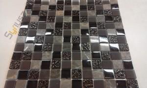 BARWOLF Mozaika szklana 2,3x2,3cm tuscany brown