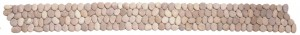 Mozaika kamienna Galets Mats Beige 10x100cm BATI ORIENT