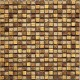 BARWOLF Mozaika szklana 1,5x1,5cm tuscany warm gold carved